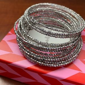Silver wrapping bangle